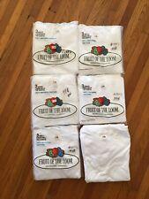 Vintage 1978 Deadstock LOT Fruit of the Loom T Shirt Tee SINGLE STITCH USA XXS