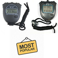 Digital Handheld Sports Stopwatch Stop Watch Time Alarm Counter Timer Uk
