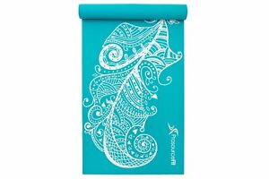 Feather Patterned Eco-Friendly Non-Slip Yoga Mat  for Yoga & Pilates