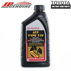 GENUINE OEM TOYOTA LEXUS NEW ATF TYPE T-IV AUTOMATIC TRANSMISSION FLUID OIL