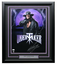 Undertaker Signed Framed WWE WWF 16x20 Photo JSA ITP