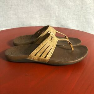 Chaco Sansa Womens Size 6 Shoes Dark Earth Open Toe Comfort Walking Thong Sandal
