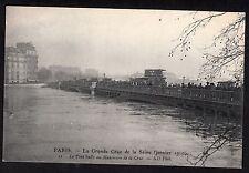 Paris 1910 Flood - View of Le Pont Scully au Maximum de la Crue.