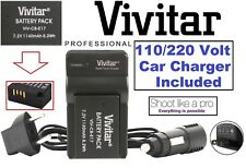Li-Ion LP-E17 Battery With Dual 110/220V Charger For Canon EOS Rebel 77D T7i SL2
