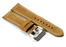 22mm Genuine Leather Watch Band Matte Buckle Strap For Panerai Radiomir 1940