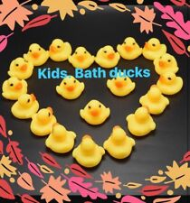 NEW 10-20 Mini Yellow Bath time Rubber Ducks Bath Toy Squeaky Water Play Kids