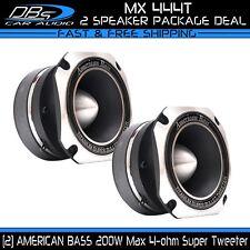 2 American Bass MX 444T Aluminum Super Loud Tweeter 400W 4ohm Car Audio Speaker