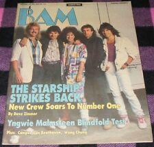 BAM magazine December 11 1985 #221 Starship  Yngwie Malmsteen Dio  RARE  VG+