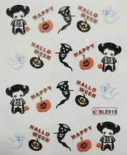 Accessoire ongles : nail art- Stickers Halloween : citrouille, fantome, costume