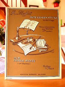 """Alfred Moffat  """"Alte Geigenstücke in der ersten Lage""""  Noten Klavier und Violine"""