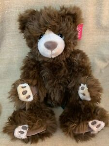 RUSS Berrie EWAN Fluffy Brown Soft Toy Plush Teddy Bear 15""