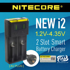 Nitecore new i2 2-Slot Intelligent Battery Charger Li-ion 18650 RCR123a 26650