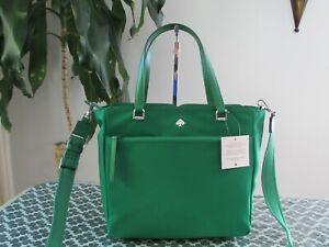 NWT Kate Spade New York Nylon Jae Medium Satchel handbag Green Bean