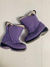 Lands End Winter Boots Toddler 8 Purple