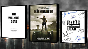 The Walking Dead Script/Screenplay With Movie Poster And Autographs Signed Print