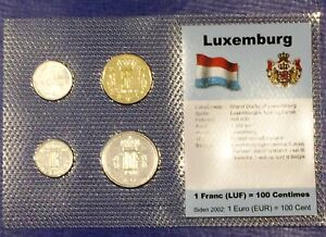 Luxembourg 25c-10 francs 1972-90 XF UNC Circulation Coin Set - World Currencies