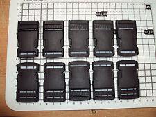 """PLASTICA NERA Side Release FIBBIE PER CINGHIA BAGS cinghie CLIP 25 mm x 10pcs """"P"""""""