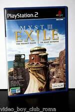 MYST III EXILE usato ottimo stato versione ufficiale italiana PS2 FR1 31786