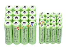16xAA 3000mAh+16x AAA 1800mAh 1.2V NI-MH Rechargeable Battery 2A 3A Green Cell