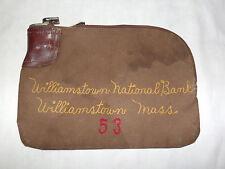 VINTAGE COINS MONEY WILLIAMSTOWN MASS NATIONAL BANK DEPOSIT BAG