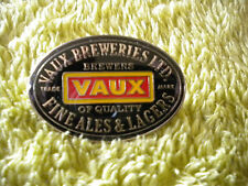 A VAUX BREWERY ENAMEL PIN BADGE