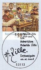 BRD 2008: Heinrich Zille Nr. 2640 mit dem Bonner Ersttags-Sonderstempel! 1A 1810
