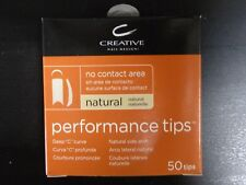 CREATIVE CND PERFORMANCE NATURAL TIPS for Acrylic UV Gel Size #1-10 50 Refill