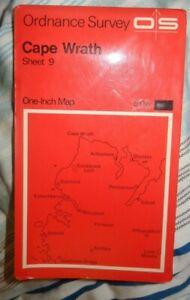 ORDNANCE SURVEY OS  RED ONE INCH  SHEET 9   CAPE WRATH  1967