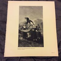 Vintage Book Print - The Puppet - Goya - 1938