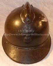 Casque Adrian modèle 1915 Infanterie du commerce en alu officier français WW1