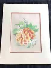 Original Paintings Floral Flowers Signed by Nellie Rorer Cynthina Kentucky Pair