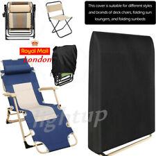 Folding Reclining Deck Chair Cover Rattan Garden Sun Lounger Cover Waterproof UK