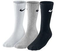 Nike Socks BLACK WHTE GREY XL 11 - 14 Mens Sport Everyday socks