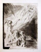 TOBIAS TOBIT ENGEL SIGNIERTE RADIERUNG 1925 WALTER WELLENSTEIN ETCHING ANGEL
