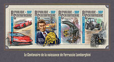 More details for central african rep 2016 mnh ferruccio lamborghini birth cent 4v m/s cars stamps