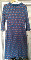 "New SEASALT Ladies Navy ""THE CLEATS"" Cotton Mix Hippy Boho Tunic Dress UK 14"