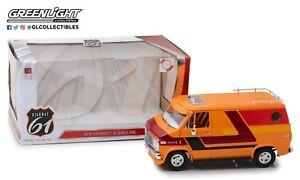 Highway 61 1/18 1976 Chevrolet G-Series Van Orange &  Custom Graphics HWY-18012