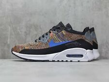 Nike Air Max 90 Ultra 2.0 Flyknit Rainbow Black UK Size 8 EUR 42.5 881109 001