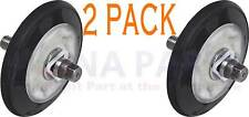 New listing 2 Pack New! 2701044 Dryer Drum Roller Wheel & Shaft Kit Fits Lg Kenmore Sears