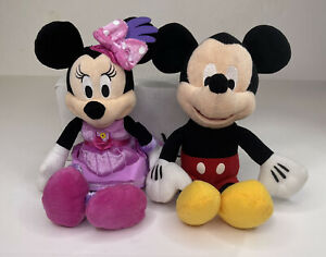 Minnie Mouse Tea Party And Mickey Mouse Plush Bundle 10 inches