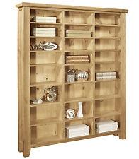 Provence solid oak furniture large CD DVD media storage cabinet rack shelves