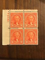US SCOTT #641 VF/NH Block of 4, Rose / Light Rose Color, Attractive!