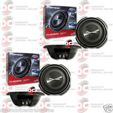 """2 x PIONEER TS-SW3002S4 12"""" SINGLE 4 OHM CAR SHALLOW MOUNT SUBWOOFER 400W RMS"""