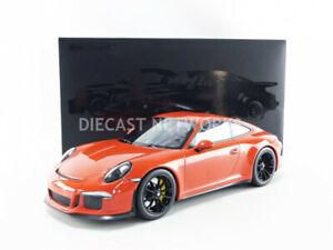 Minichamps 2016 Porsche 911 (991) R Coupe Lava Orange 1/12 Scale New Release!