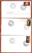 2002 -3 Enveloppes -Fdc 1°Jour -Jazz à Juan les Pins-Timbre-Yt.3502/3/5