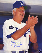 TOMMY LASORDA Autographed Signed Photograph LA Dodgers Los Angeles Baseball