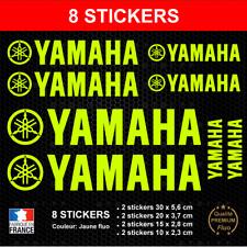 8 Stickers YAMAHA Jaune FLUO Autocollants compatible Moto Scooter Quad Adhésifs