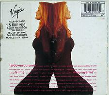 BELINDA CARLISLE CD Lay Down Your Arms 3 Track UK DIGI-PACK + PROMO STICKER