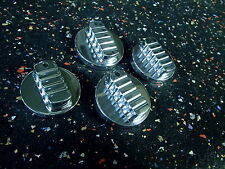Chevy Billet Heat A/C & Headlight 4pc Knobset 1999-2002 polished! ribbed style