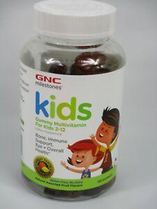 GNC Milestones Kids Gummy Multivitamin Children 2-12 120 Gummies Exp 04/2021